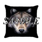 Wolf Cushions Suede Personalised